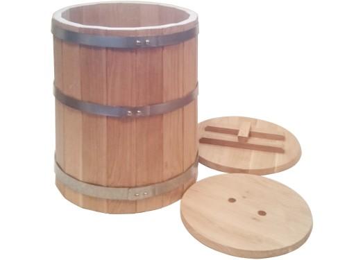 Кадка дубовая 50 литров для засолки солений