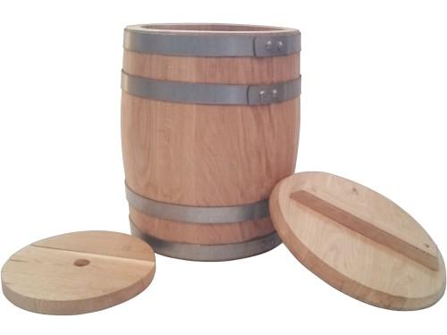 Бочка дубовая 15 литров для засолки солений