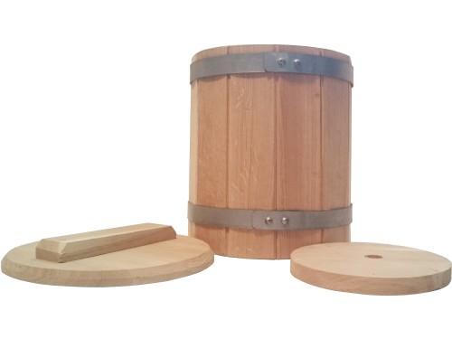 Кадка дубовая 10 литров для засолки солений