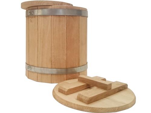 Кадка дубовая 20 литров для засолки солений