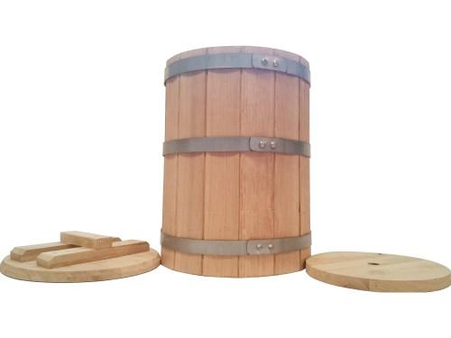 Кадка дубовая 30 литров для засолки солений