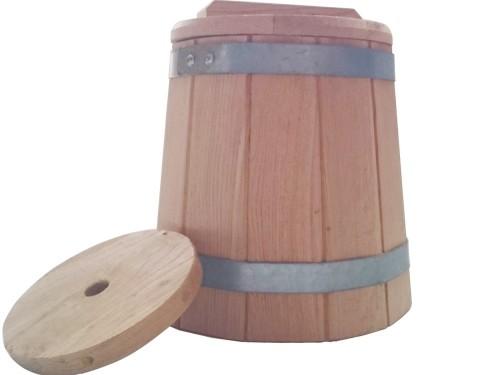 Кадка дубовая 5 литров для засолки солений